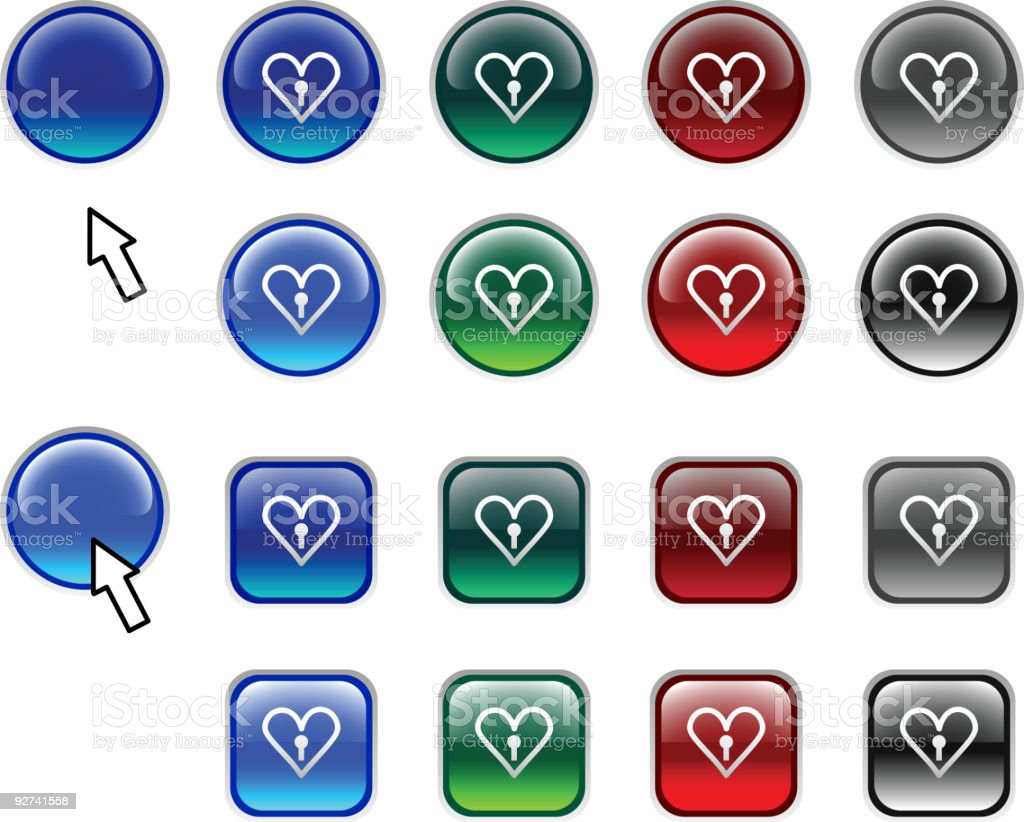 Love buttons. royalty-free stock vector art