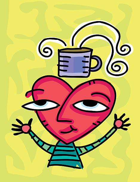 Love coffee vektorkonstillustration