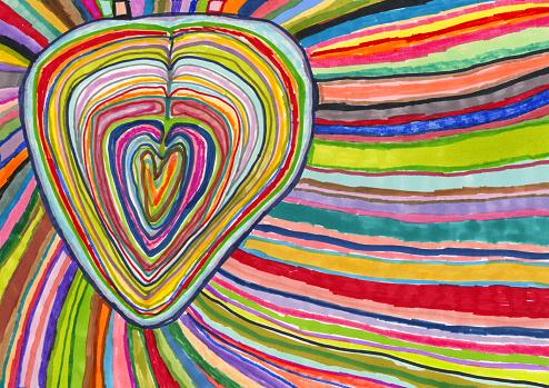 Love, emotion, heart burst