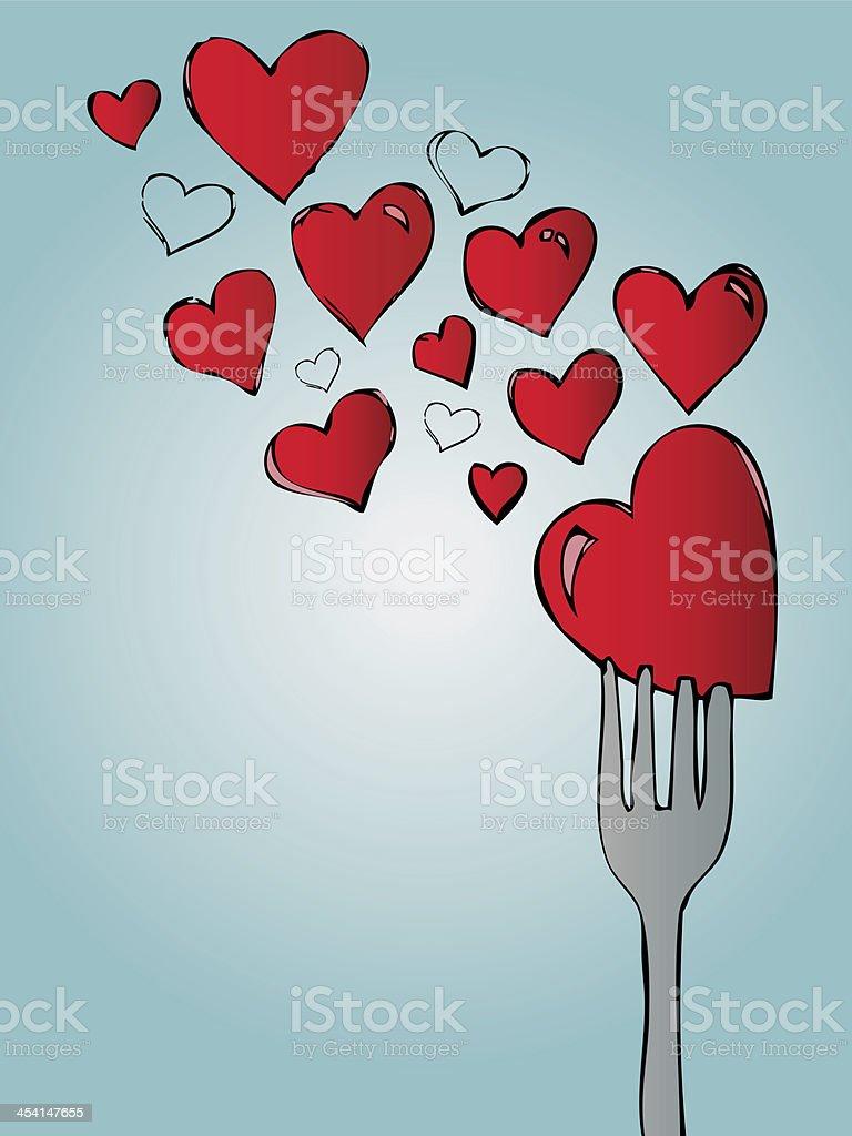 Love food royalty-free stock vector art