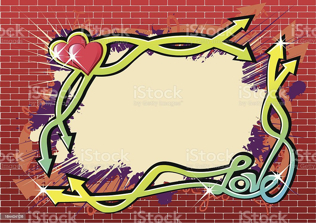 Love Graffiti vector art illustration