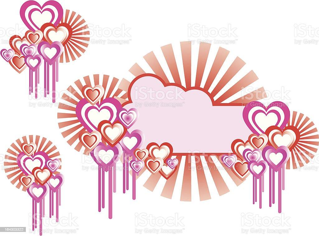 Love Heart Banner royalty-free stock vector art