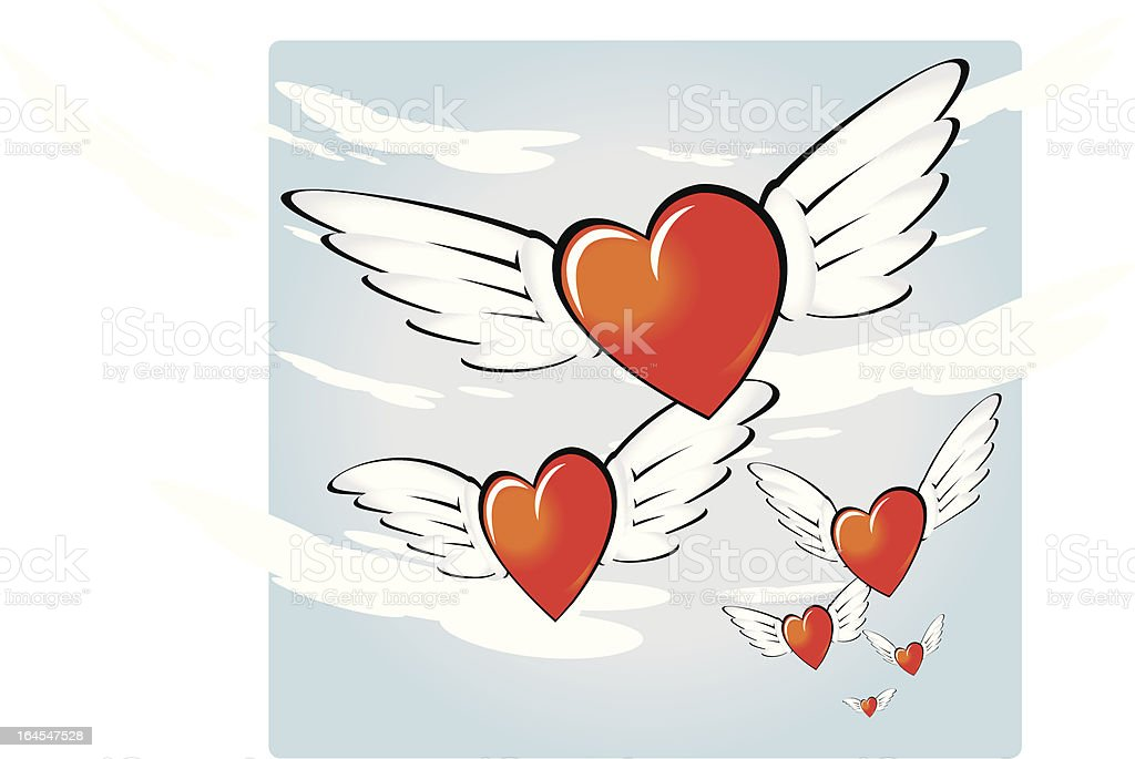 Love is gone royalty-free stock vector art
