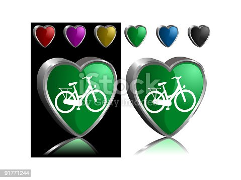 Love My Bicycle Stock Vector Art & More Images of Bicycle 91771244