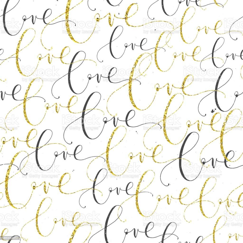 Ilustracion De Frase De Amor Manuscrita Letras Patrones De