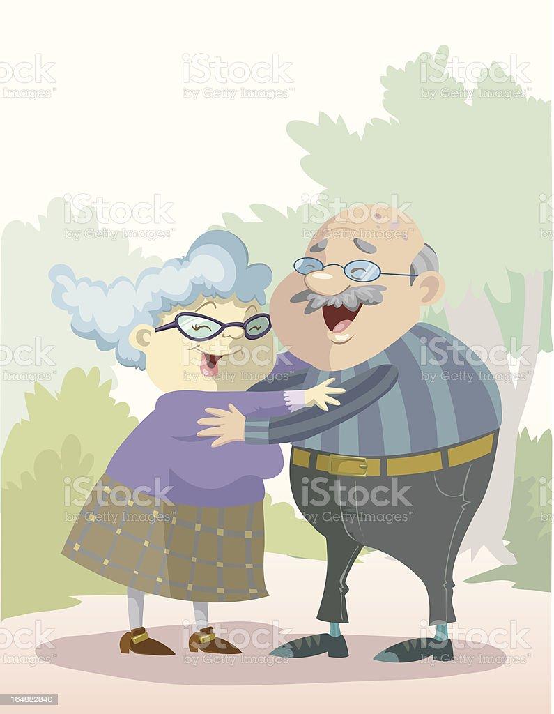 Love through the years vector art illustration