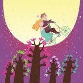 Love under the moon