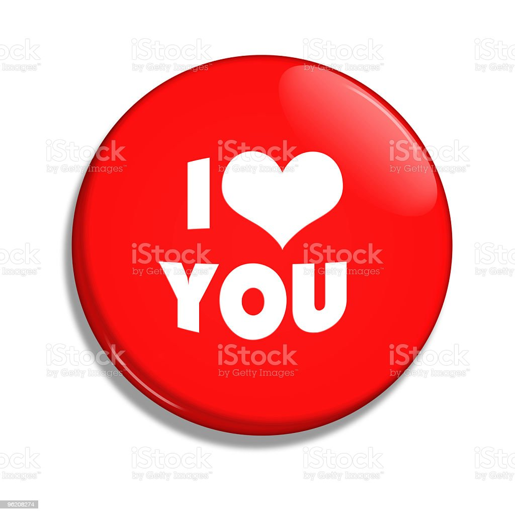 I love you button royalty-free stock vector art