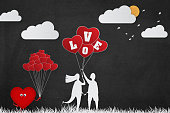 Love Young Couple Background