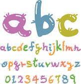 lovely colorful font