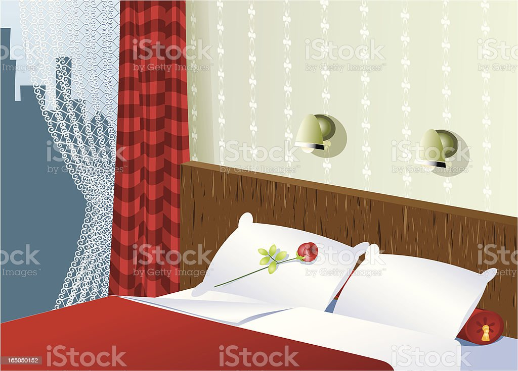 Lovely night royalty-free stock vector art