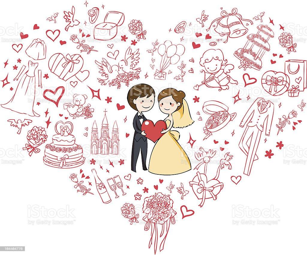 jolie carte dinvitation de mariage – cliparts vectoriels et plus d