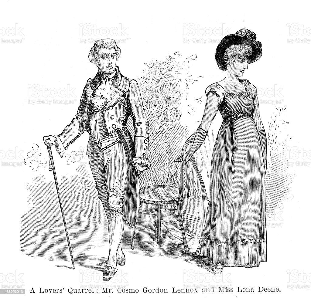 Lovers Quarrel vector art illustration