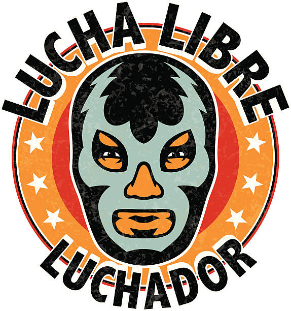ilustraciones, imágenes clip art, dibujos animados e iconos de stock de lucha libre mexicana luchador - lucha