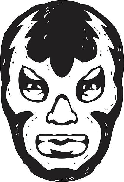 luchador face mask vector art illustration
