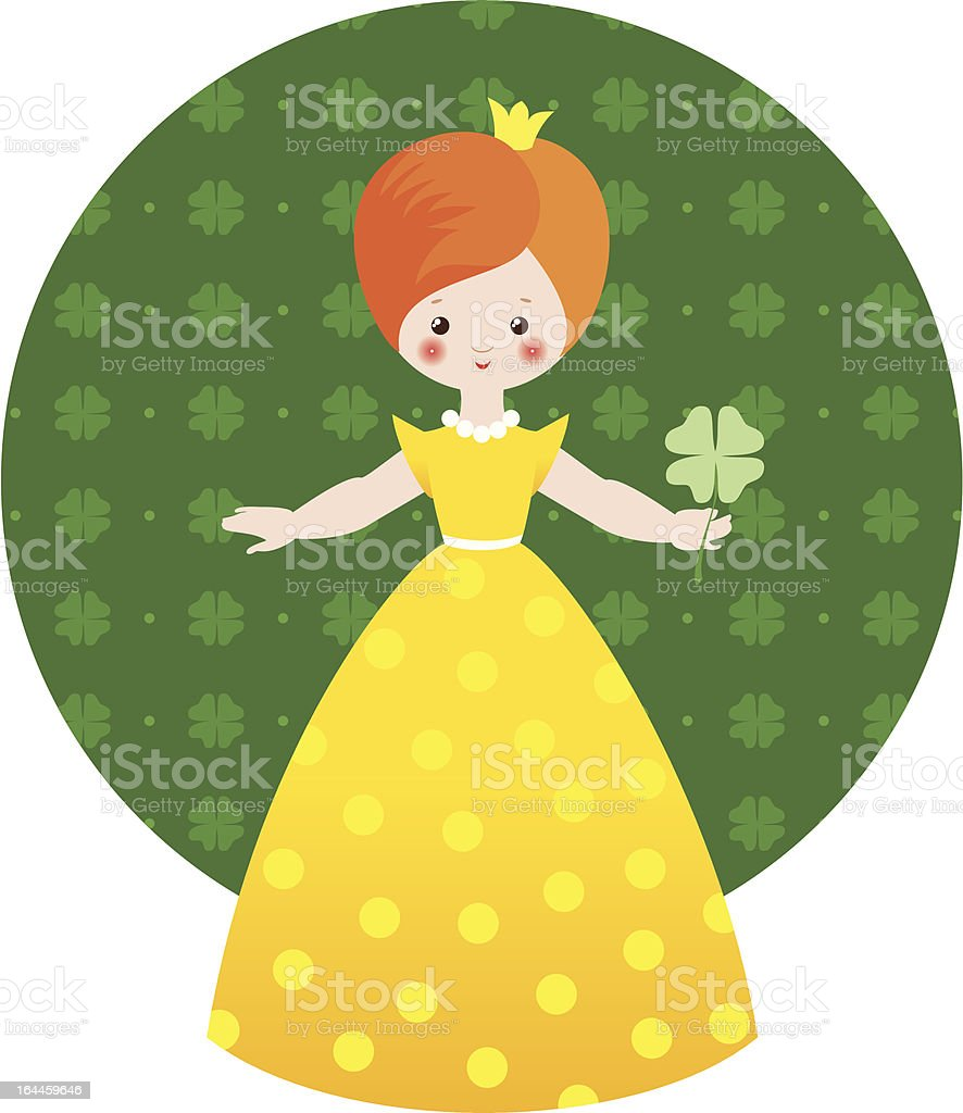 Lucky princess royalty-free stock vector art