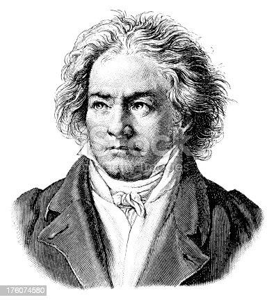 istock Ludwig van Beethoven   Antique Portrait Gallery 176074580