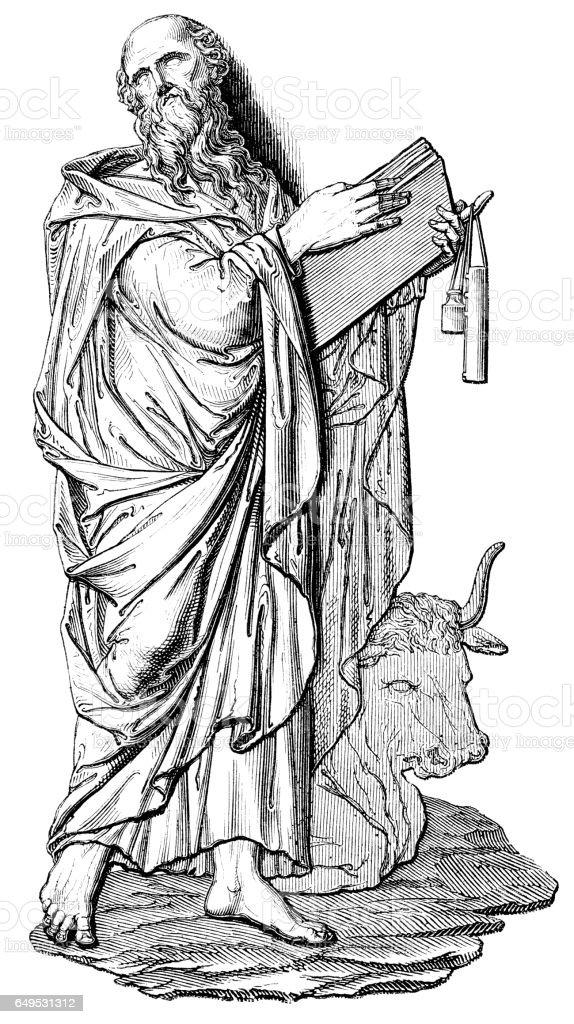 Luke the Evangelist illustration 1844 vector art illustration