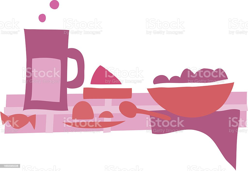 Lunch time 1 pink royalty-free lunch time 1 pink stock vector art & more images of blue
