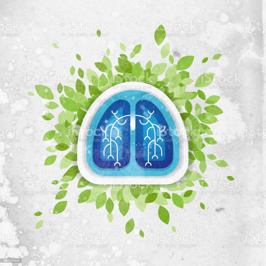 Lungs and leaves illustration, health concept royalty-free lungs and leaves illustration health concept stock vector art & more images of adult
