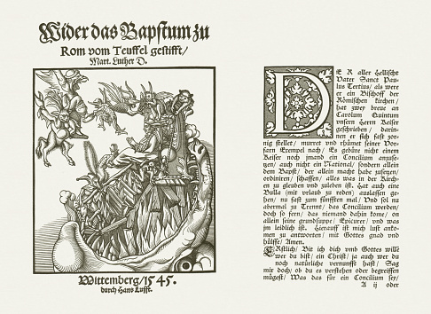 Luther's pamfleet, originally published by Hans Lufft in 1545
