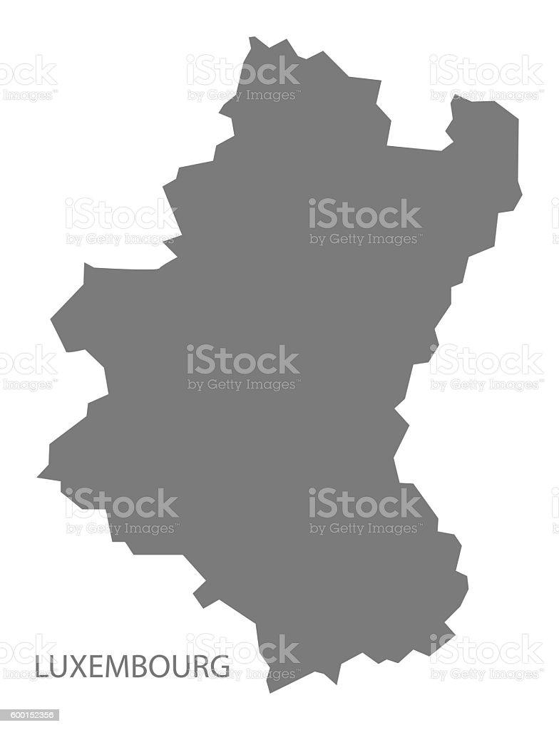 luxembourg belgium map grey royalty free luxembourg belgium map grey stock vector art