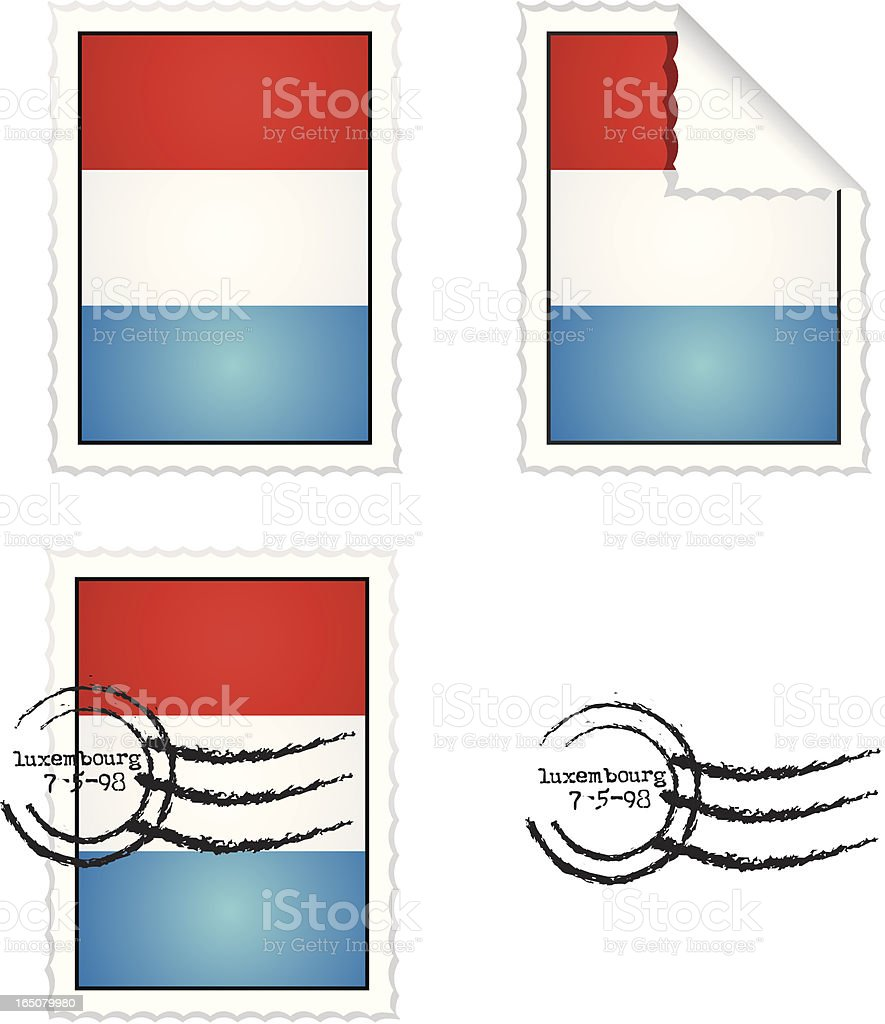Luxembourg Stamp Set royalty-free stock vector art