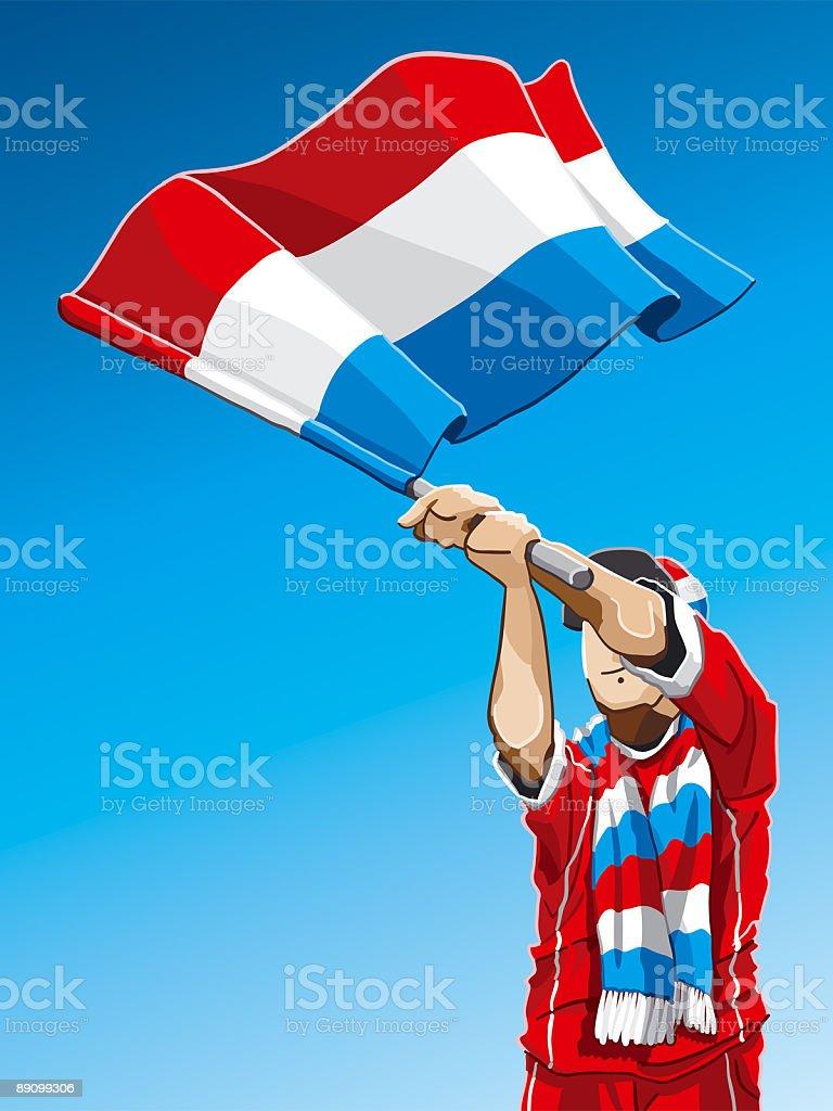 Luxembourg Waving Flag Soccer Fan vector art illustration