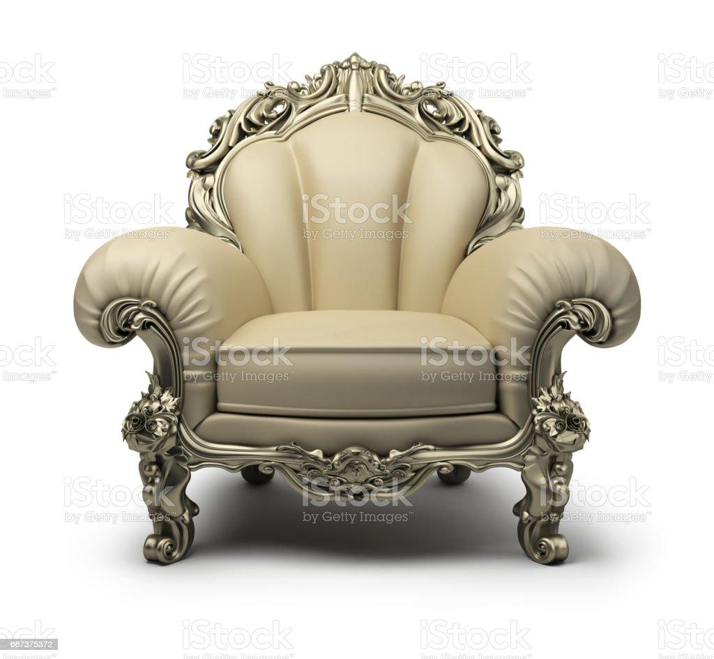 luxurious armchair vector art illustration