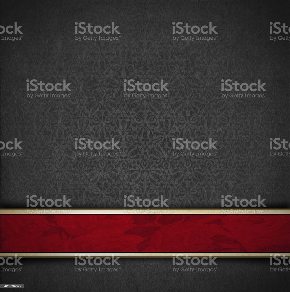 Luxury Floral Gray and Red Velvet Background vector art illustration