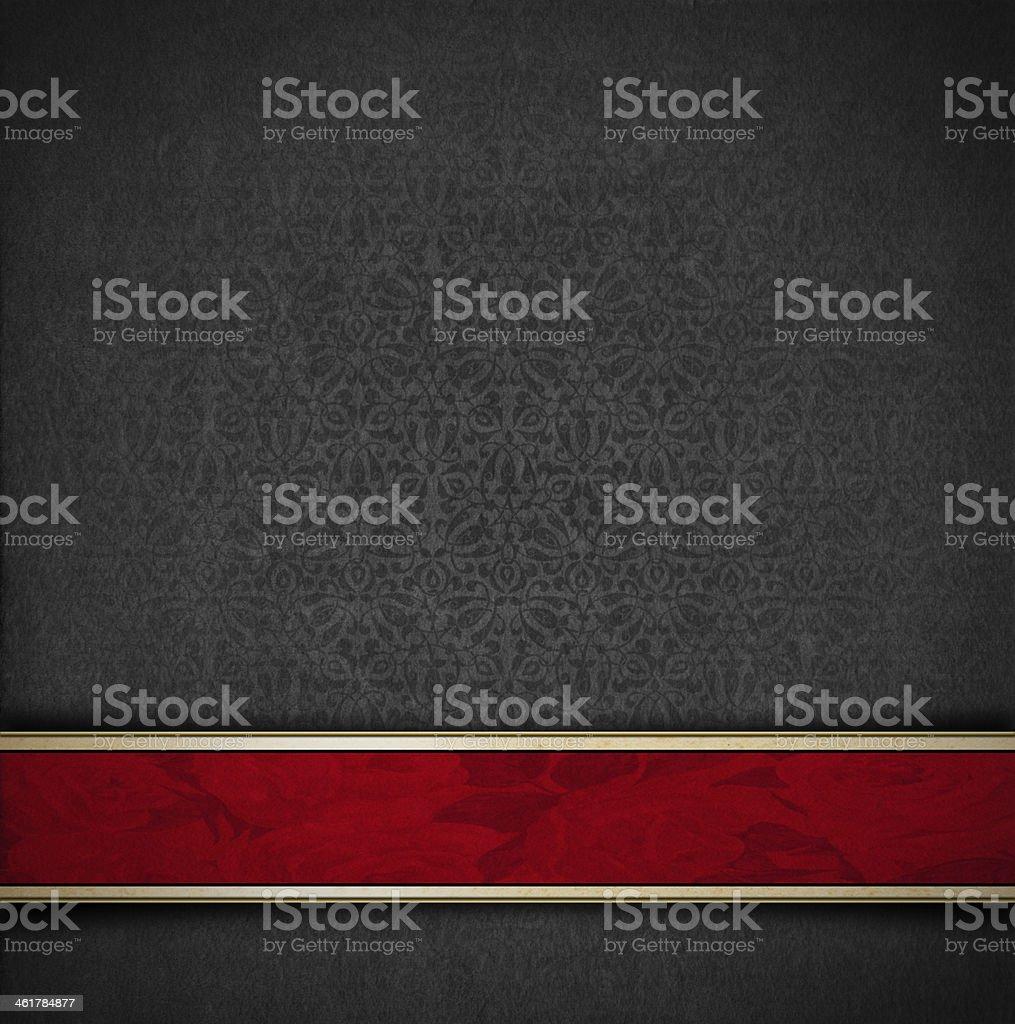 Luxury Floral Gray and Red Velvet Background vector art illustration