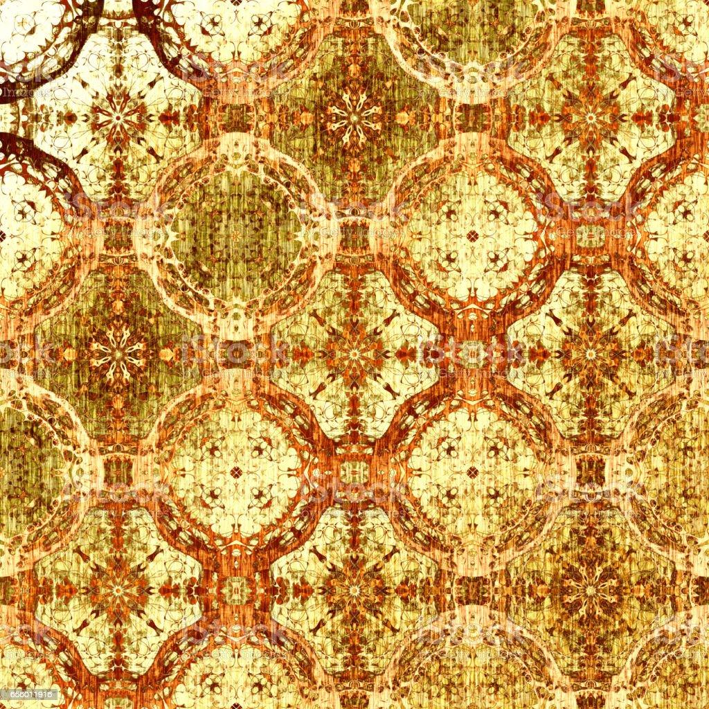 Luxury gold oriental pattern vector art illustration
