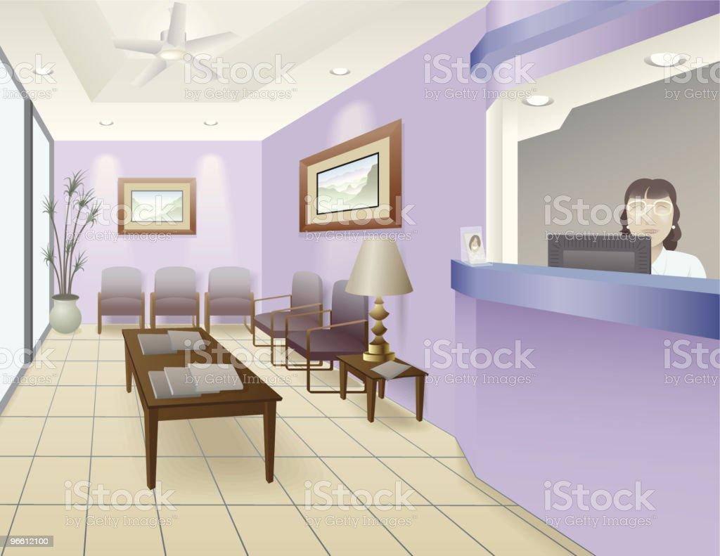 Luxus Büro - Lizenzfrei Abwesenheit Vektorgrafik