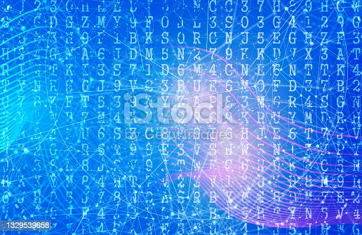 istock Machine code backdrop. Concept of internet technology 1329539658