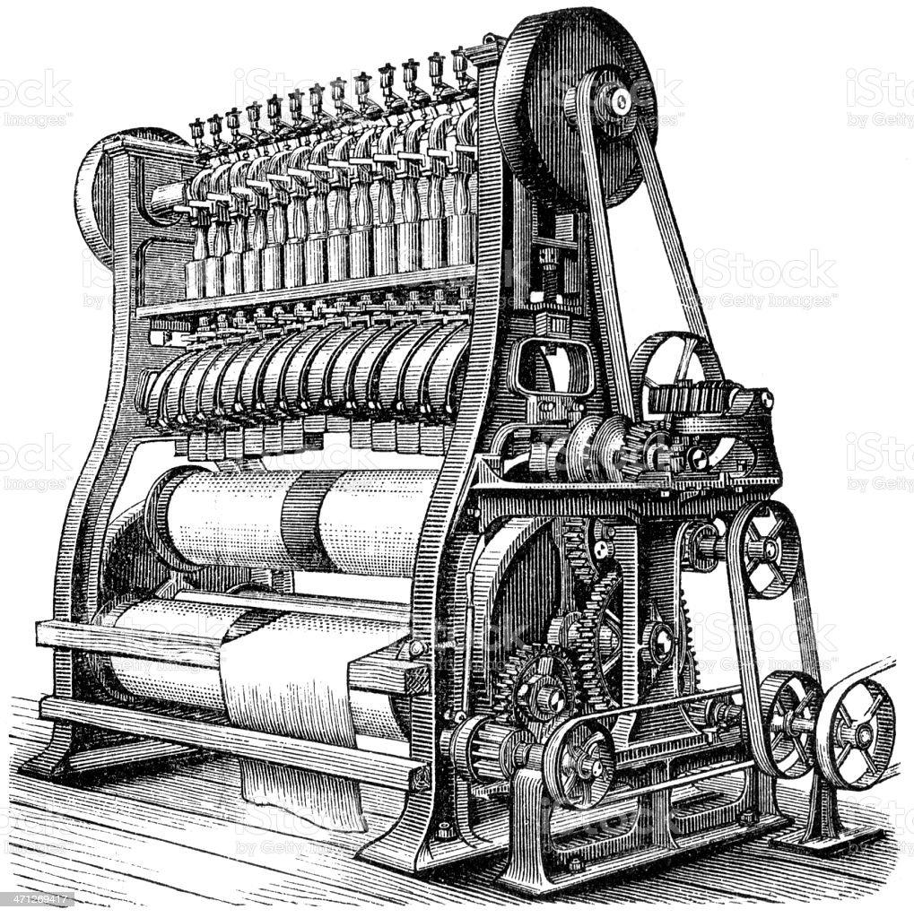 machine royalty-free stock vector art