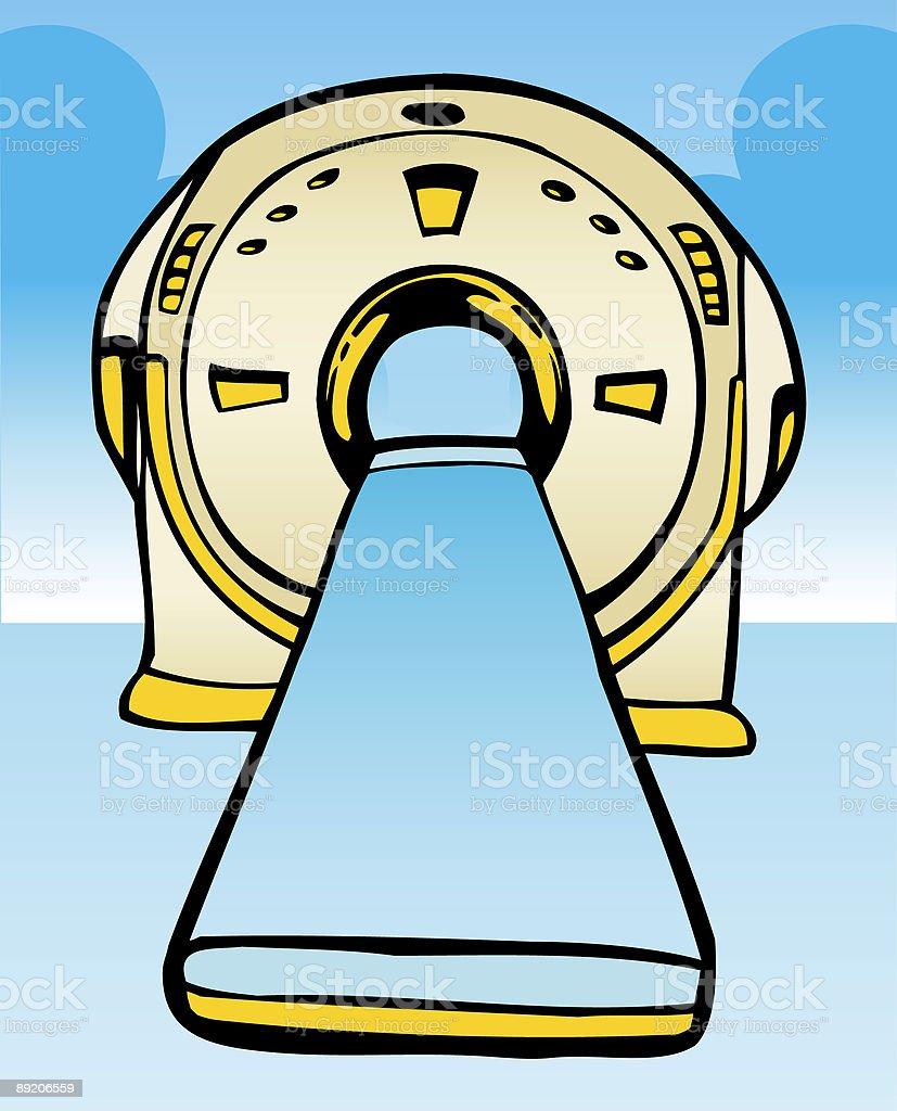 MRI Machine royalty-free stock vector art