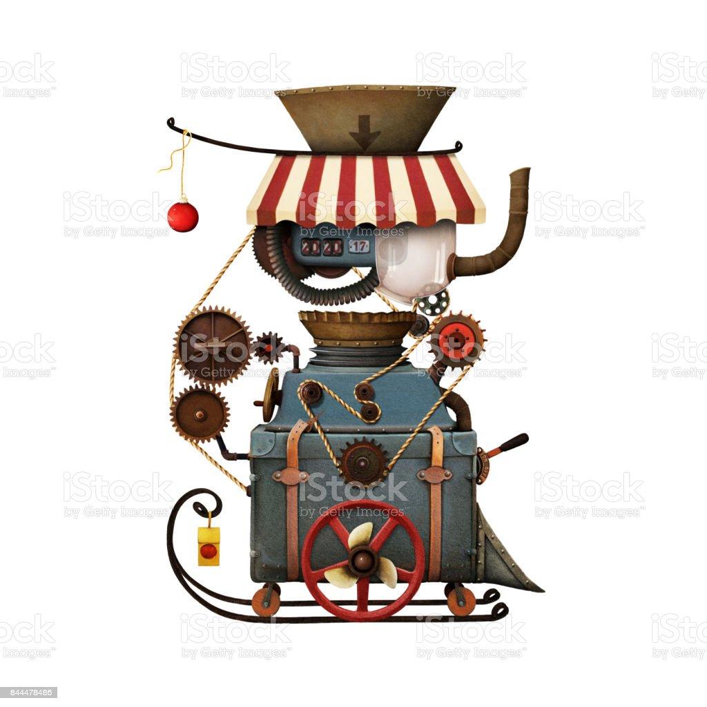 Machine d'atelier du père Noël - Illustration vectorielle