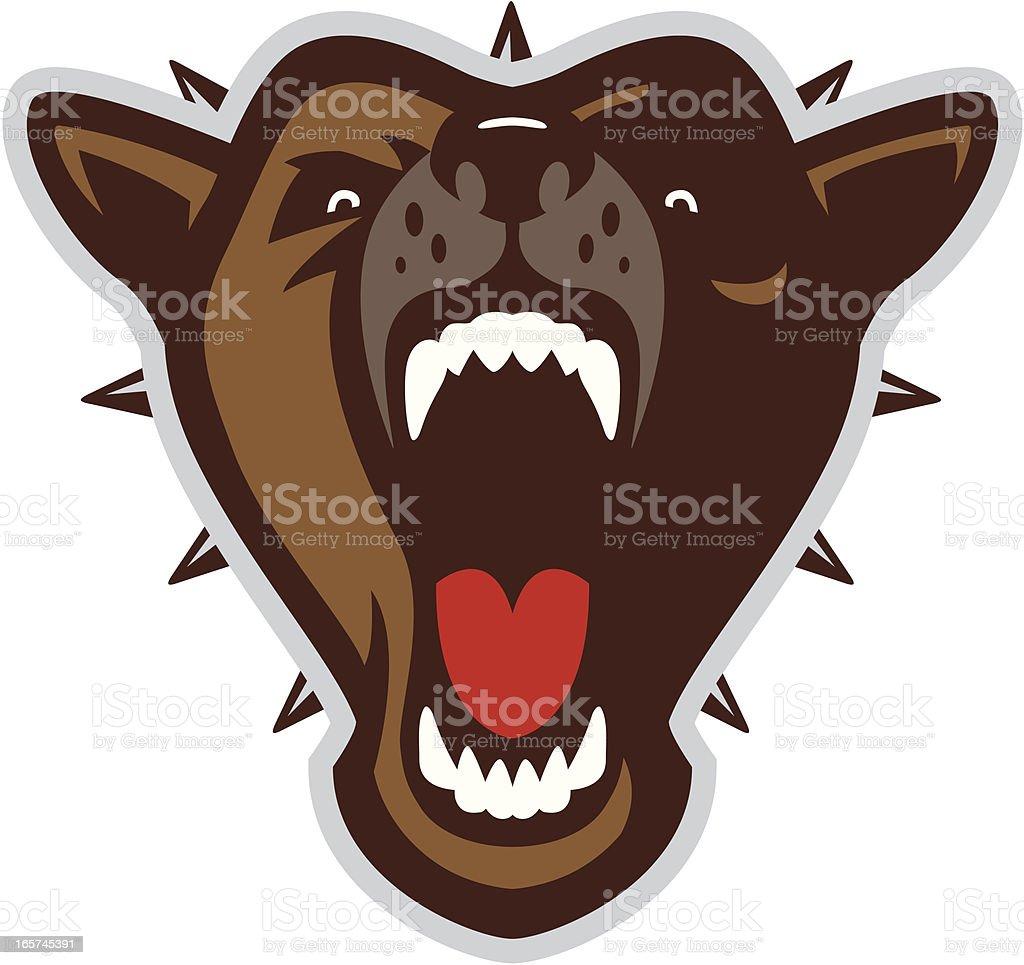 Mad dog head royalty-free stock vector art