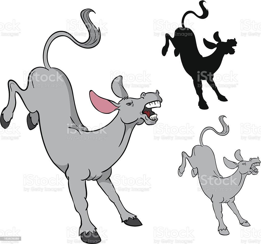 Mad Donkey vector art illustration