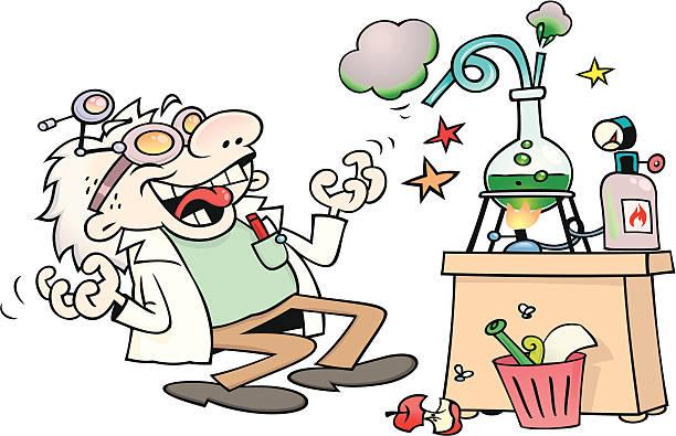 verrückter wissenschaftler - extravagant schutzbrille stock-grafiken, -clipart, -cartoons und -symbole