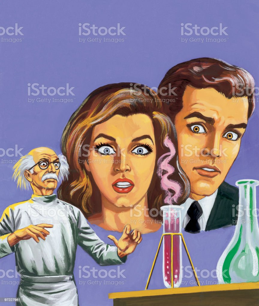 Mad scientist royalty-free stock vector art