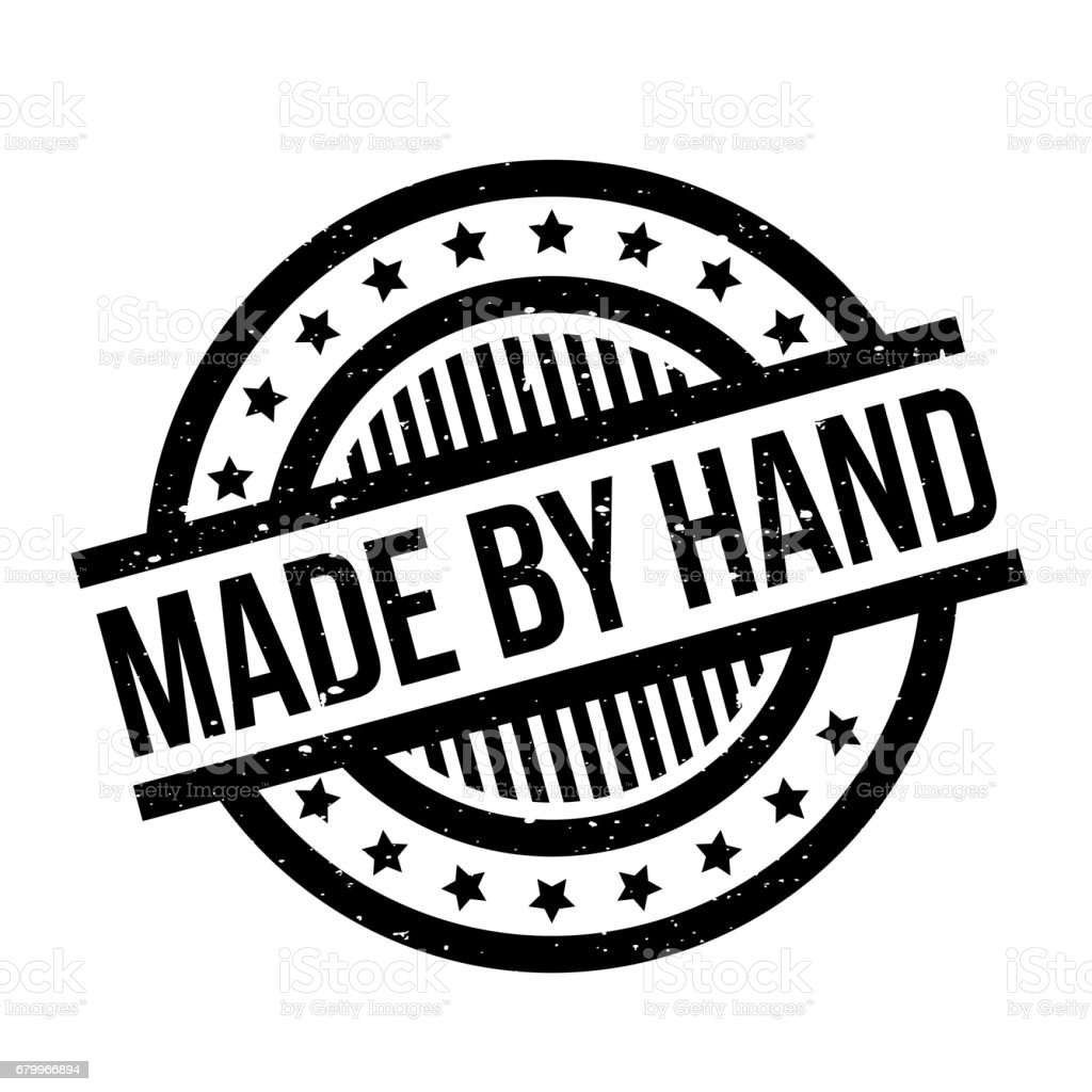 Made By Hand rubber stamp vector art illustration