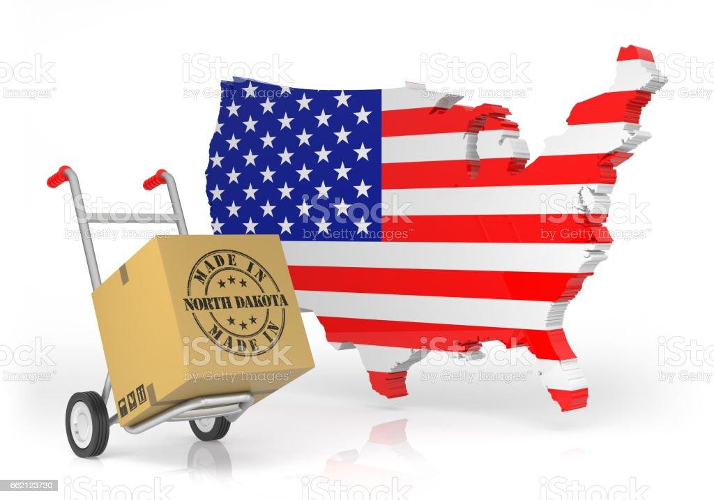 Made In North Dakota With Usa Map stock vector art 662123730 iStock