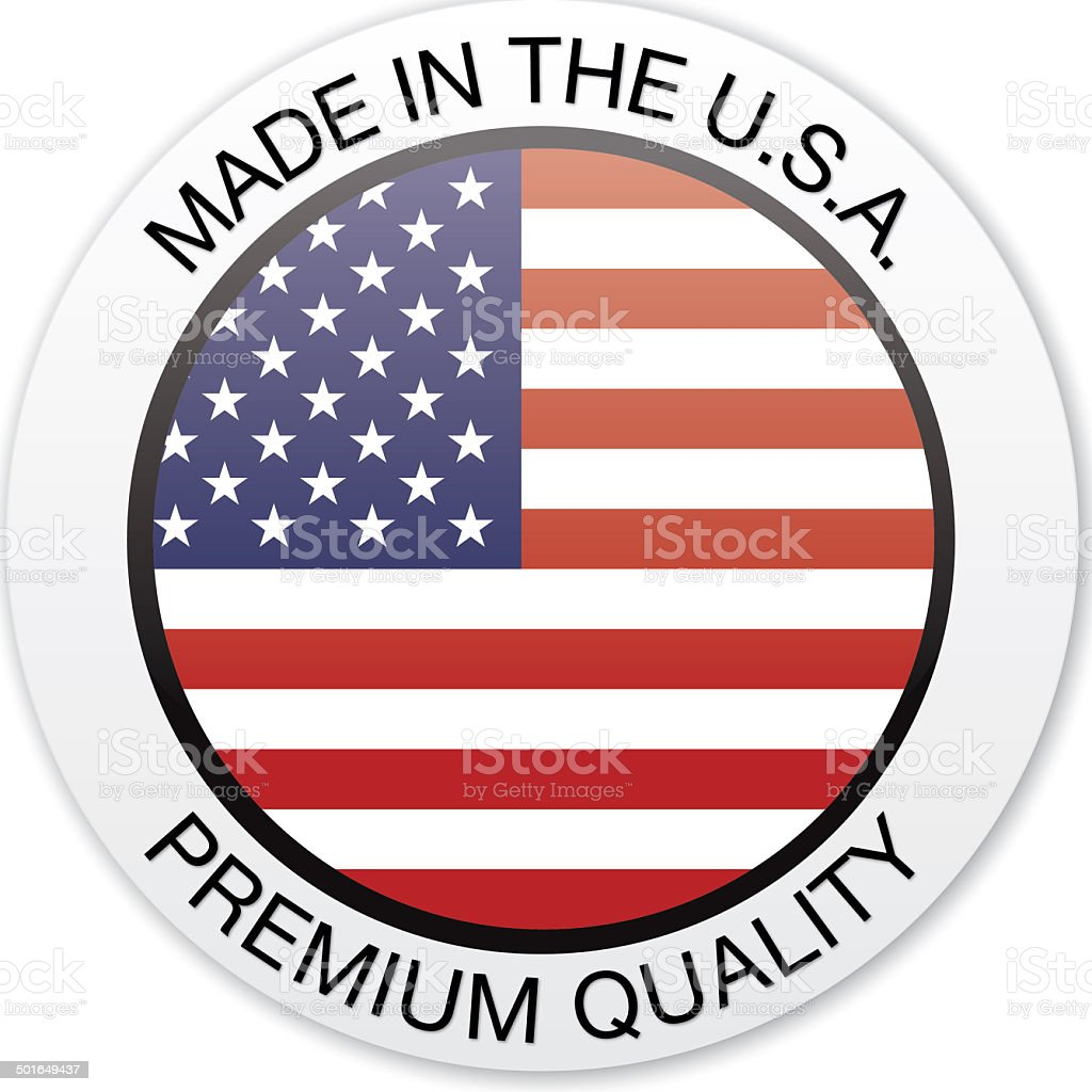 Made in USA Badge royalty-free stock vector art
