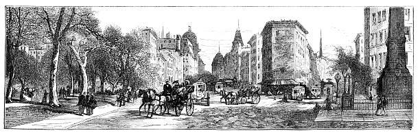 Madison Square  1880 stock illustrations