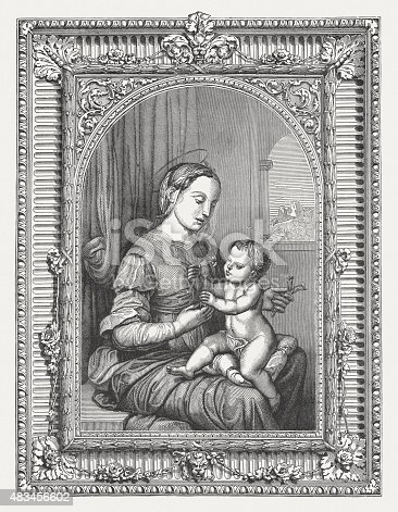 istock Madonna of the Pinks by Raffael (Italien painter), published 1878 483456602