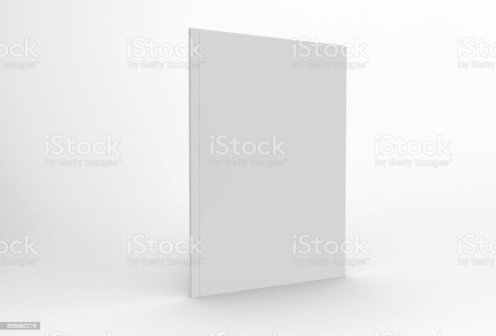 Magazine or brochure mock up isolated on white background vector art illustration