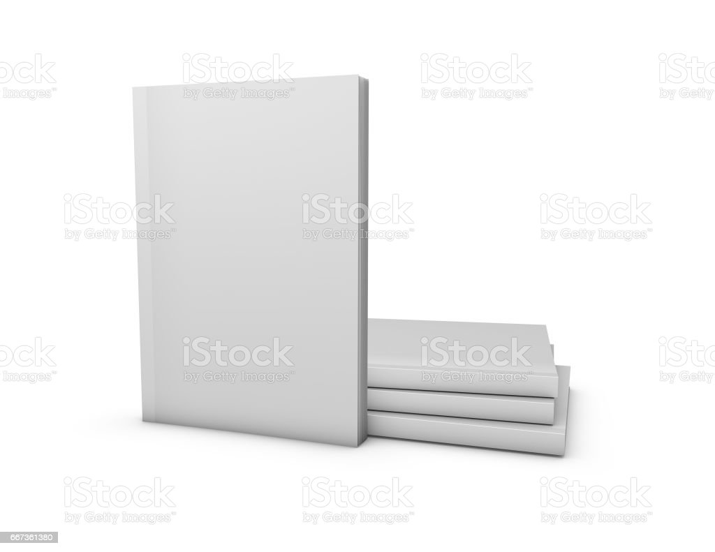 Magazines Blank Cover Mock Up Template Isolated On White Background