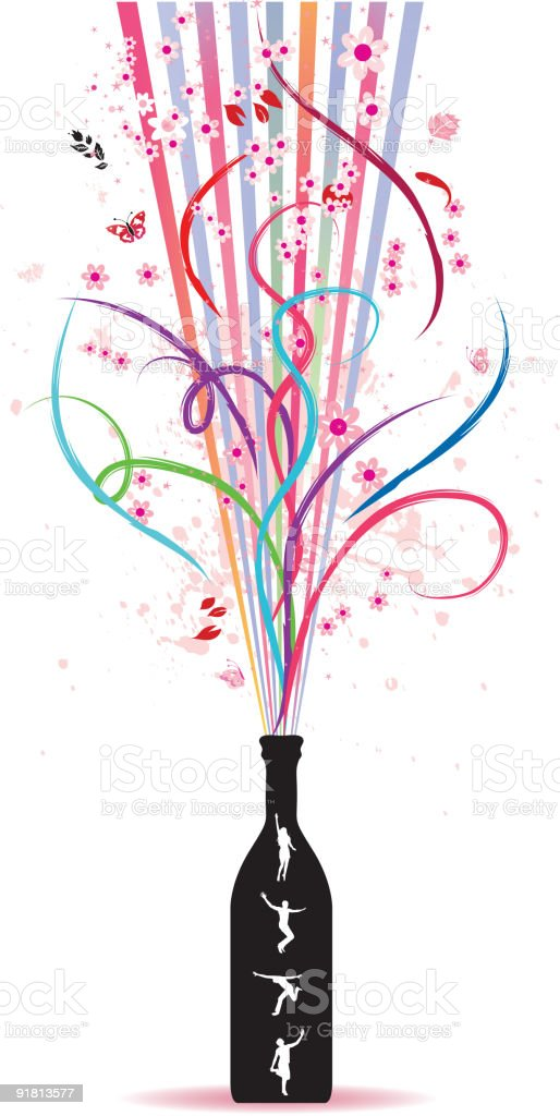 Magic bottle, spring royalty-free stock vector art