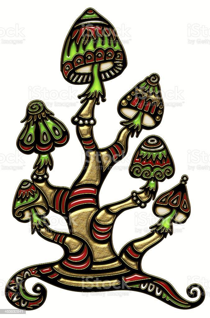 Magic mushrooms royalty-free stock vector art